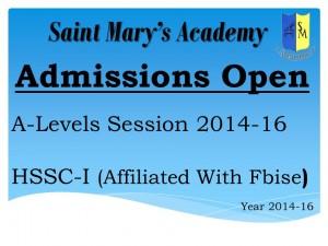 admissions 2014